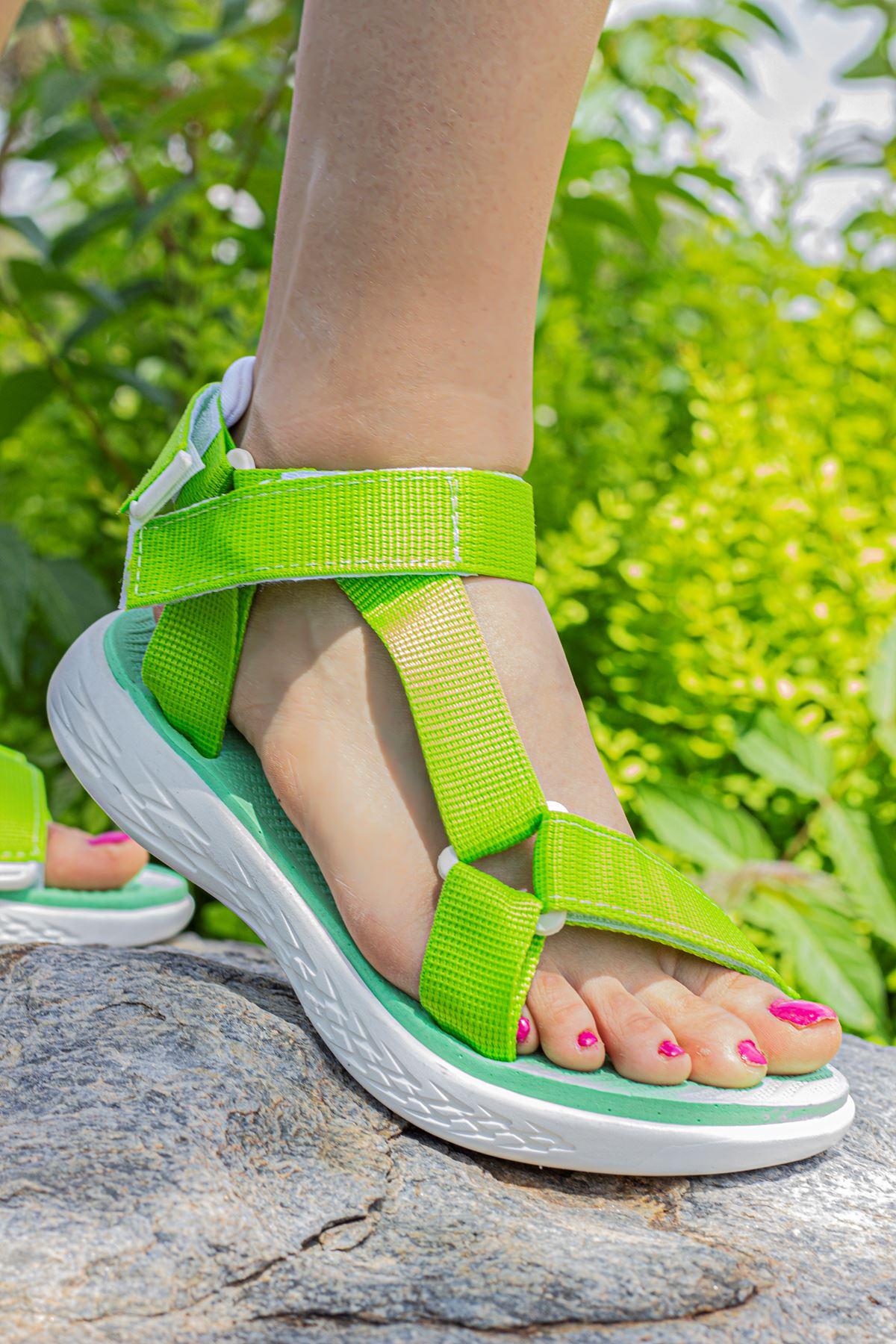 CERY KADIN SANDALET-Yeşil